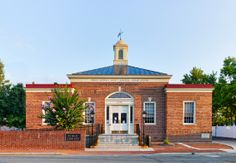 Photo of the exterior of the Upper Marlboro Branch Library.