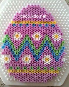 Easter egg hama perler beads by  Deco.Kdo.Nat