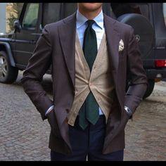 "Viola Milano ""Forest"" 7-fold cashmere tie…"