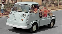 There have been many Subaru Sambars, including a weird retro-style copy of the Volkswagen camper. But our favourite is the original of the 1960s. Just look at it.