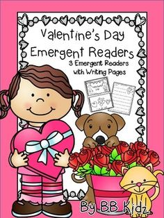 There are 3 Valentine Emergent Readers in this packet. Each reader has 10 pages per booklet. There are also 7 Valentine writing pages to go with the readers.A fun way to learn about Valentine's Day!A tip on putting the booklet together... copy on collate and cut the stack in half.