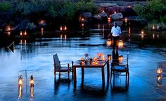 Is this not the most romantic dinner setting you have ever seen? Bushman's Kloof Wilderness Reserve, South Africa. #Romance #SouthAfrica    From the Sure Travel blog: Romantic destinations in South Africa  blog.suretravel.co.za