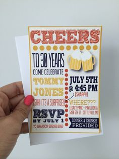 Printable Beer Invitation, Beer Birthday Invite | 30th Birthday Party Ideas