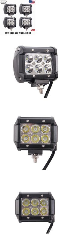 Motors Parts And Accessories: 4X 4 18W Cree Led Work Light Bar Spot Pods Cube Offroad Car Driving Fog Lamp -> BUY IT NOW ONLY: $33.2 on eBay!