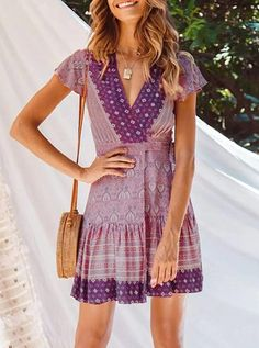 This effortless Summer Floral Wrap Dress is so versatile, throw on a pair of slides for a casual look, or a pair of simple heels to take it up a notch. This Summer Floral Dress is available in +15 floral patterns and colors | Amazon Floral Dress | Amazon Summer Dress | Beach Dress | Vacation Dress | Summer Mini Dress | Mini Dress Outfit | Casual Dress | Casual Summer Outfit | Pool Party Dress | Cute Summer Dress | Vacay Dress | Vacation Outfit Ideas | Summer Outfit Ideas | Brunch Outfit | #OOTD Cute Summer Dresses, Casual Dresses, Purple Dress Casual, Dress Summer, Summer Clothes, Summer Business Casual Outfits, Casual Summer, Summer Outfits, Formal