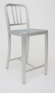 Amazon.com: Modern Cafe Counter Stool in Brushed Aluminum: Home & Kitchen