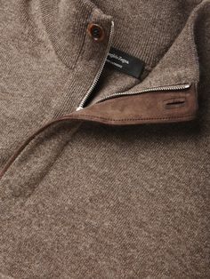 Brown Premium Cashmere Sweater FW16 9910703 | Zegna
