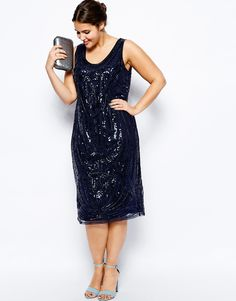 ASOS CURVE - SALON Sequin Slip Dress