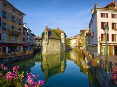 The Palais de l'Isle and Thiou river. Annecy, in the Haute-Savoie department in the Rhône-Alpes region in south-eastern France, 35 kilometres (22 miles) south of Geneva. - Webshots