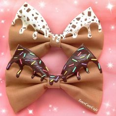 Chocolate Decoden Hair Bow by TotesCuteCafe on Etsy