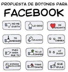 Propuesta de nuevos botones para FaceBook #infografia