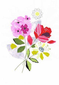 Ellen Giggenbach Ripped paper flower art ჱ ܓ ჱ ᴀ ρᴇᴀcᴇғυʟ ρᴀʀᴀᴅısᴇ ჱ ܓ ჱ ✿⊱╮ ♡ ❊ ** Buona giornata ** ❊ ~ ❤✿❤ ♫ ♥ X ღɱɧღ ❤ ~ Wed 4th Feb 2015