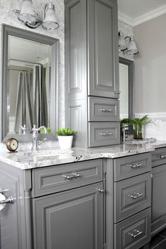 Gorgeous Gray: Kitchens And Bathrooms With Modern Gray Painted Cabinets