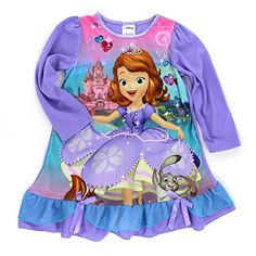 f805955870 Amazon.com  Sofia the First Girls Purple Nightgown Pajamas (4)  Clothing