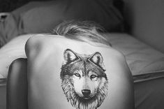 Wolf Tattoo on Back for Women - 55 Wolf Tattoo Designs  <3 !