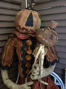 """31"""" tall pumpkin head primitive delight!"""