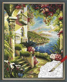 Acrylic Paint by Number kit 50x40cm (20x16'') Mediterranean DIY Painting PH7017 | 32.50