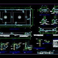 Swimming pool dwg autocad drawing construction details khaled pinterest swimming for Swimming pool overflow detail dwg