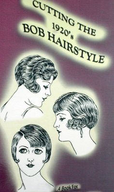 1920s Cutting the Flapper Bob Bobbed Hairstyles by RumbleSeatCat, $12.95