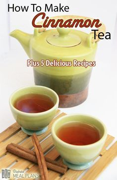 How to make cinnamon tea PLUS 5 delicious recipe alternatives. Cinnamon helps lower blood glucose, inflammation, and cholesterol.