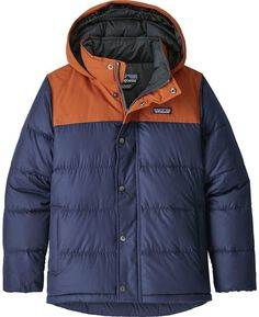 Kid's Patagonia Bivy Down Jacket Big Boys' 2019 - Large Blue Boys Winter Jackets, Jackets For Women, Hoodie Jacket, Rain Jacket, Hoody, Patagonia Kids, Boys Hoodies, Warm Outfits, Outdoor Outfit
