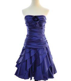 Purple Ruffles Dress Dress  // Vintage Dress // by CoolMintMoon, $62.00