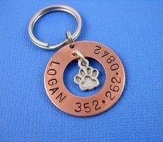 Copper Washer Pet Tag with Sterling Silver Paw Charm review at Kaboodle