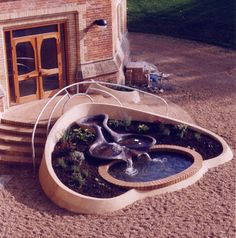 Flowform and Entrance Design  -  The Mount Home School for children with special needs, Tunbridge Wells, Great Britain, 1993