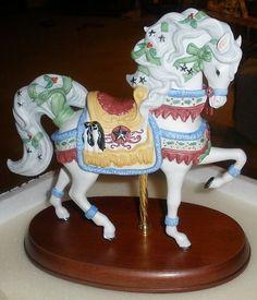 Carousel Statues: Lenox 2000 Christmas Carousel Horse