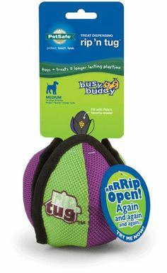 Amazon.com: Petsafe Rip 'N Tug Lotus Dog Toy, Medium: Pet Supplies, to keep dog busy, velcro ball you can hide treats in. Dog Job.