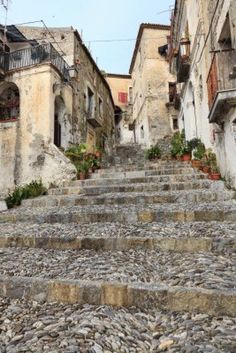 Ancient stair in Scalea, Calabria, Italy