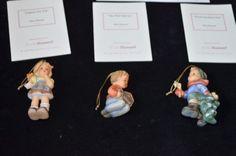 Studio-Hummel-Berta-Goebel-Ashton-Drake-Christmas-Ornaments-Set-2-1998-COA