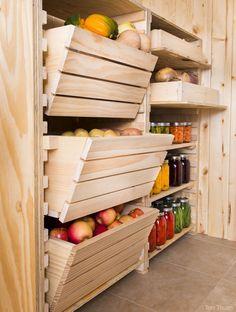 Beautiful Root Cellar Storage