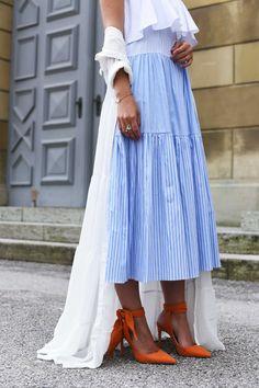 More on www.fashiioncarpet.com Striped Dress by Zara, white dress by  glamouros 0a7d65698c