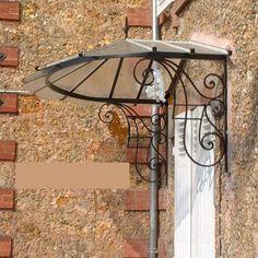 Afbeeldingsresultaat voor auvent de porte en fer forgé