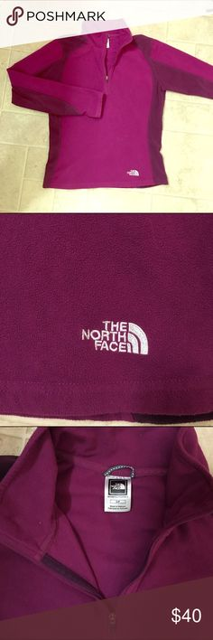 The North Face   Wine Colored Fleece Quarterzip Size small! Great condition, worn a few times. The North Face Sweaters