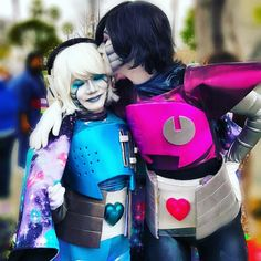 Smooching my favourite ghost at ALA!  This was absolutely my fave pic taken of me at the con last weekend  #mettaton #mettablook #mettatonex #mtt #napstabot #napstablook #mettatoncosplay #cosplay #napstablookcosplay #napstabotcosplay #napstabotundertale #napstablookundertale #mettatonundertale #undertalemettaton #undertalenapstablook #undertalenapstabot #cosplaymakeup #animelosangeles2016 #ala2016 #ala #undertalecosplay #undertail #kiss #smooch #cutecosplay #couplescosplay #platonic…