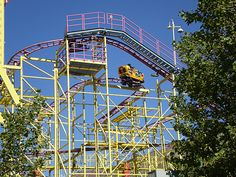 The Wild Mouse roller coaster changes its direction more often than water in a stream. #Lagoon