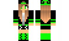 minecraft skin Cool-Tomboy-GREEN