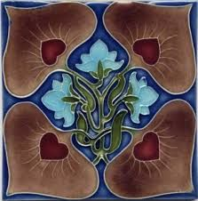 Art nouveau tile and arts and crafts tile reproductions made by Porteous Tiles. Beautiful decorative ceramic tiles ideal for splashback, bathroom, kitchen, and fireplace. Art Nouveau Tiles, Art Nouveau Design, Art And Craft Design, Design Art, Design Styles, Belle Epoque, Azulejos Art Nouveau, Artist And Craftsman, Arts And Crafts Movement