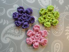 Bullion Flower Motif By Claire From Crochet Leaf - Free Crochet Pattern - (ravelry)