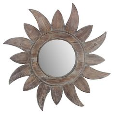 Soleil Wall Mirror- how pretty is this!!! Would love to see this in a bright color!