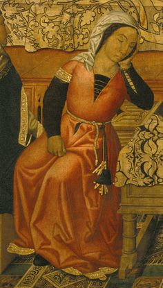 1495-500 Vergós_Group_-_Birth_of_Saint_Stephen detail http://commons.wikimedia.org/wiki/File:Verg%C3%B3s_Group_-_Birth_of_Saint_Stephen_-_Google_Art_Project.jpg