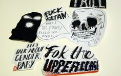 Make your own stickers, 'zine style