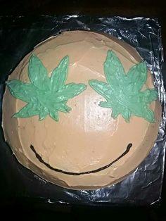 Marijuana emoji Cake