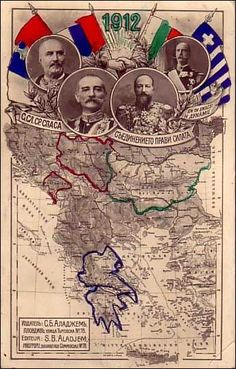 Balkanbund, Serbien, Montenegro, Griechenland und Bulgarien! It was directed against Austria-Hungary and the Ottoman Empire.