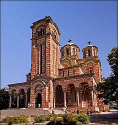 St. Mark's Church, Belgrade, Serbia was built from 1931 to 1940 in the Serbo-Byzantine style of architecture.  by Katarina 2353