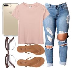 """Been a while "" by foreverkaylah ❤ liked on Polyvore featuring Speck, Monki and Tkees"
