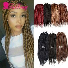 Box Braid Style 18 inch 6 packs black color Synthetic Hair Crochet Braid 3S Small Box Braids