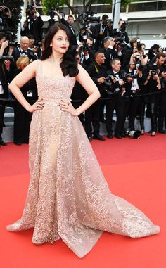 Aishwarya Rai from Cannes 2016: Best Dressed Stars  The Bollywood star is luminous in Elie Saab.